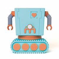 Горшок для цветов  Робот, голубой