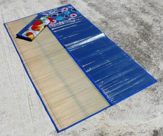 Килимок пляжний солом'яний з покриттям з сонцезахисної фольги 170х150 см