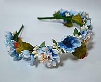 Обруч с голубыми цветками