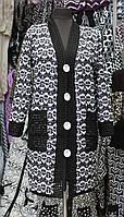 """Пальто женское трикотаж """"Ажур (1)"""""""