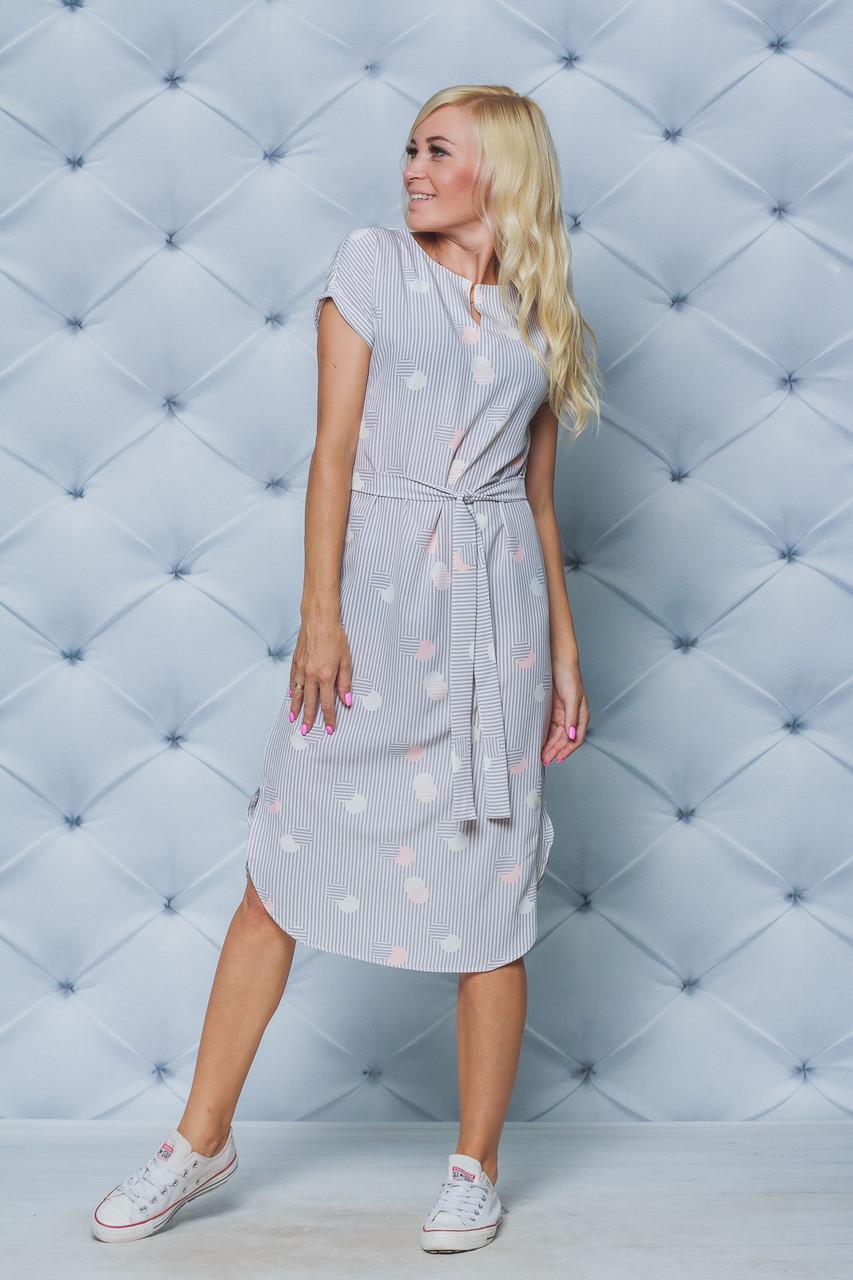 Платье летнее миди Полоска