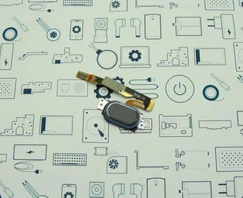 Кнопка меню (домой) Meizu Pro 6 M570H черная Сервисный оригинал с разборки