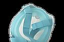 Полнолицевая панорамная маска для плавания UTM FREE BREATH (L/XL) Бирюзовая с креплением для камеры, фото 7