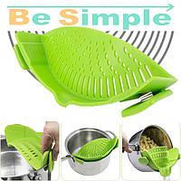 Кухонный силиконовый друшлаг Better Strainer № B49 | Складной силиконовый дуршлаг