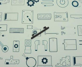 Кнопка громкости Meizu Pro 6 черная Сервисный оригинал с разборки