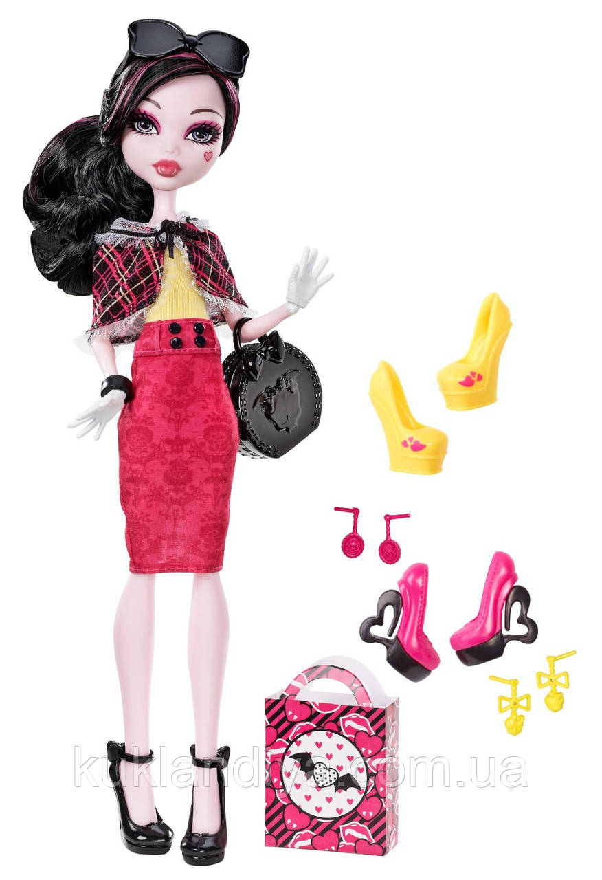 Кукла Monster High Я люблю обувь - Draculaura Shoe Collection Я люблю обувь