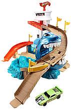 Трек Hot Wheels Хот Вилс Охота на акулу серии Измени цвет
