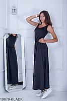 Легкое свободное платье-макси с резинкой по талии  Alessia