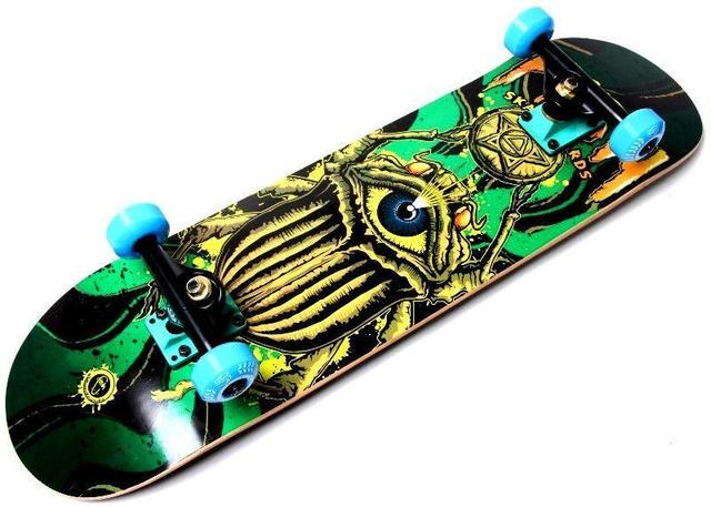 Скейт деревянный FISH Жук, нагрузка до 90 кг. Польша!