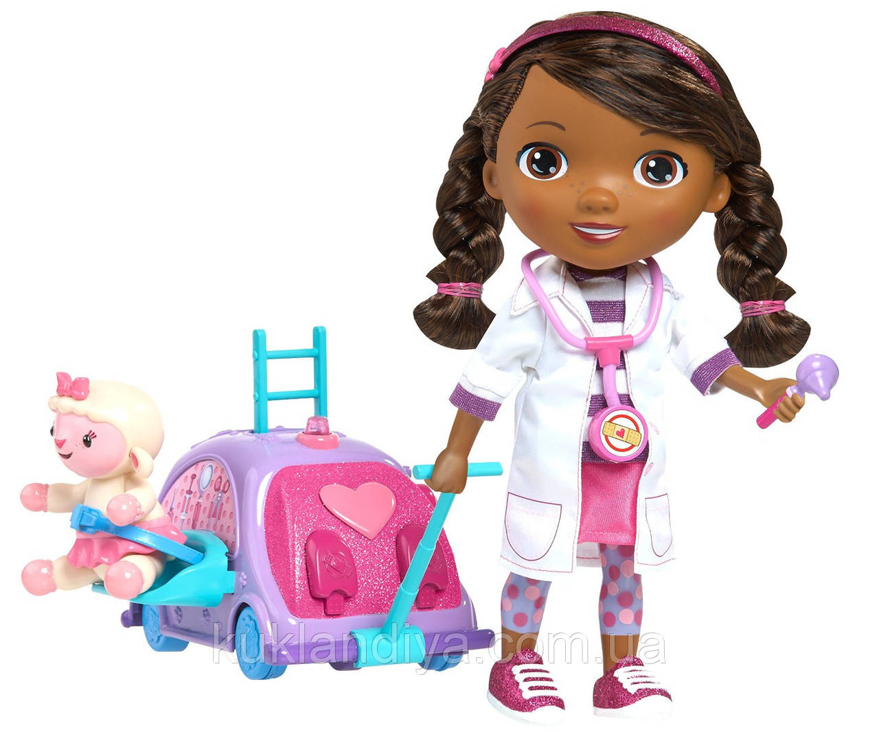 Кукла Доктор Плюшева Оригинал от Disney с мобильной клиникой Doc McStuffins