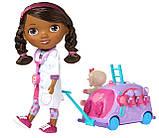 Кукла Доктор Плюшева Оригинал от Disney с мобильной клиникой Doc McStuffins, фото 3
