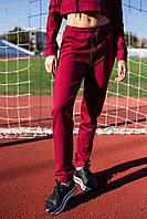 Бордовые женские спортивные штаны, фото 3