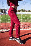 Бордовые женские спортивные штаны, фото 4