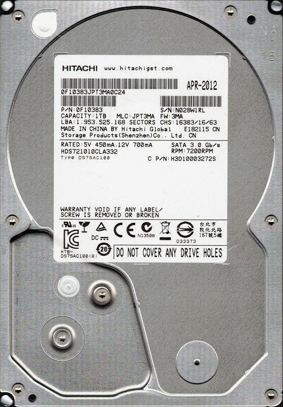 "Жесткий диск Hitachi Ultrastar A7K2000 (HUA722010CLA330) ""Over-Stock"" Б/У"