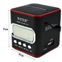 Портативная колонка WSTER WS-215 c радио, USB