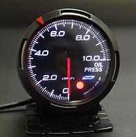 Прибор указатель давления масла (манометр) стрелочный DEFI DF 60254 +FQT/CK черный в корпусе Ø60мм датчик