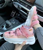 Женские Сандали Versace Chain Reaction Pink , Реплика, фото 1
