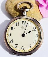 Антикварные карманные швейцарские часы,Bienne! Серебро!