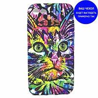 TPU чехол Animals Night light для Samsung A320 Galaxy A3 (2017) Кот