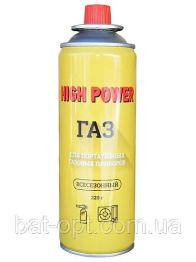 Баллон газовый HIGH POWER 220г газ для горелок