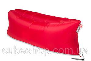 Надувной шезлонг лежак RipStop (красный)