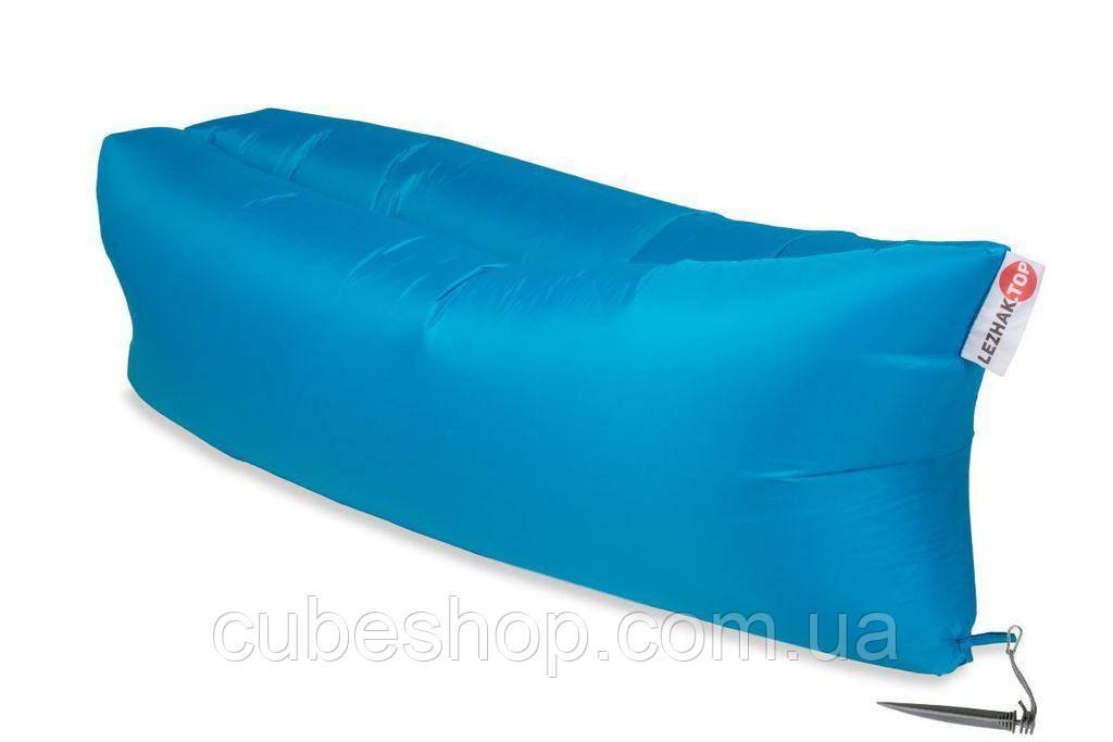 Надувной шезлонг-лежак RipStop (голубой)