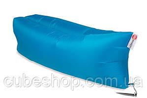 Надувной шезлонг лежак RipStop (голубой)