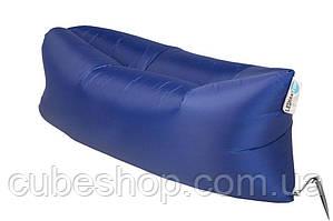 Надувной шезлонг лежак RipStop (синий)