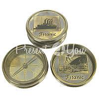 Морской сувенир компас Титаник, d-6 см., Sea Club