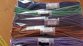 Шнур полипропиленовый твердый цветной 4мм 10м