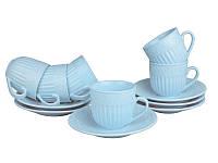 Сервиз чайный фарфоровый 12 пр. Ажур Lefard 250 мл., набор чашек с блюдцами, сервиз фарфор