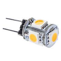 Світлодіодна лампа G4 1.2 12V W 5штук smd5050 Теплий білий