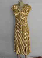 Платье женское желтое в белый горох с воланами евро размер 40 наш 46 - 48 ТМ Ayshe