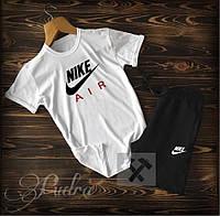 Мужской спортивный костюм «Nike»из хлопка, футболка с шортами (48-52)
