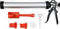 Пистолет для затирки швов алюминиевый 400мм 1л YATO со сменными насадками