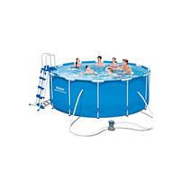 Бассейн каркасный с фильтр-насосом Bestway (10250 л.)