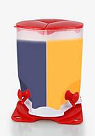 Диспенсер для холодных напитков Drink Dispenser 3 Compartment трехсекционный вращающийся, Качество