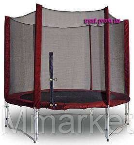 Батут Kidigo MAROON 244 см с защитной сеткой