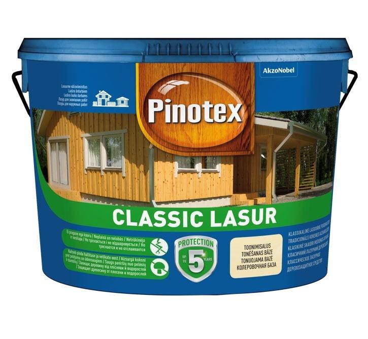 Средство для обработки древисины  pinotex classic lasur (пинотекс классик лазурь) пропитка 3л. бесплатная