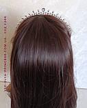 Діадема під срібло, тіара, корона, висота 2,5 див. Весільна біжутерія, фото 7