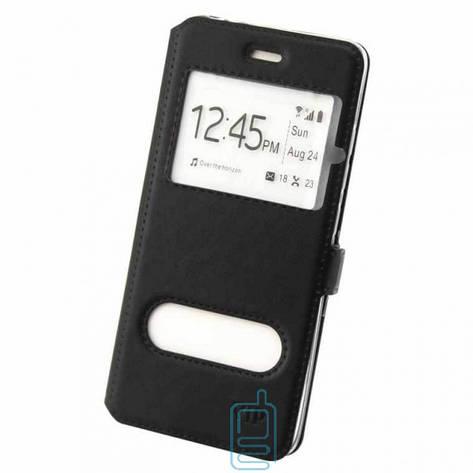 Чехол-книжка ViP 2 окна Samsung S4 i9500 черный, фото 2