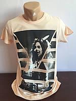 Мужская футболка персиковая