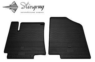 Kia Rio III 2011- Комплект из 2-х ковриков Черный в салон