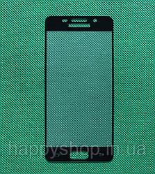 Защитное стекло Full screen для Samsung Galaxy A3 2016 (SM-A310) Черное