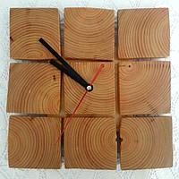 Декоративные настенные часы из сосны