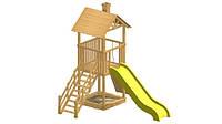 Детский игровой комплекс из дерева V-1