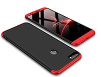 Пластиковая накладка GKK LikGus 360 градусов для Huawei Y5 (2018) / Y5 Prime (2018) / Honor 7A Черный / Красный
