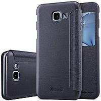Кожаный чехол (книжка) Nillkin Sparkle Series для Samsung A810 Galaxy A8 (2016)