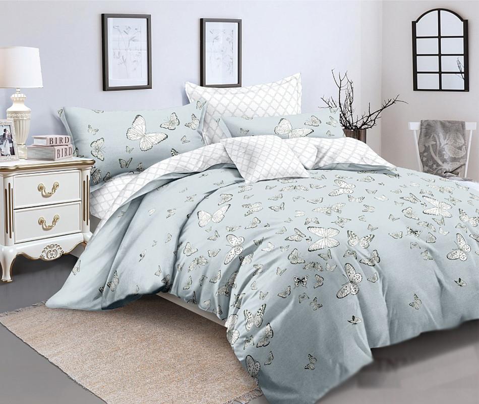 Двуспальный комплект постельного белья евро 200*220 сатин (12184) TM КРИСПОЛ Украина