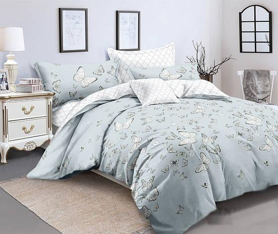 Двуспальный комплект постельного белья евро 200*220 сатин (12184) TM КРИСПОЛ Украина, фото 2